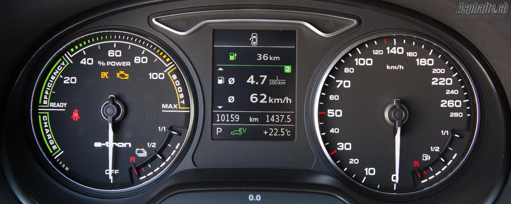 Essai Audi A3 e-tron - instruments