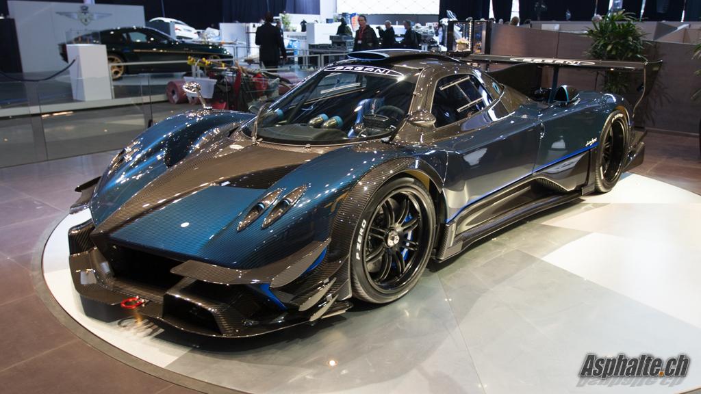 Geneva 2014 Pagani Zonda Revolucion Blue Carbon Auto