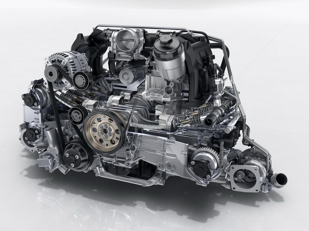 Porsche 991.2 Carrera: moteur