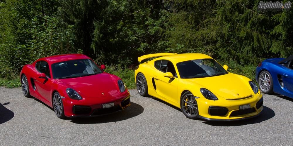 Essai comparatif Porsche Cayman GT4 & GTS