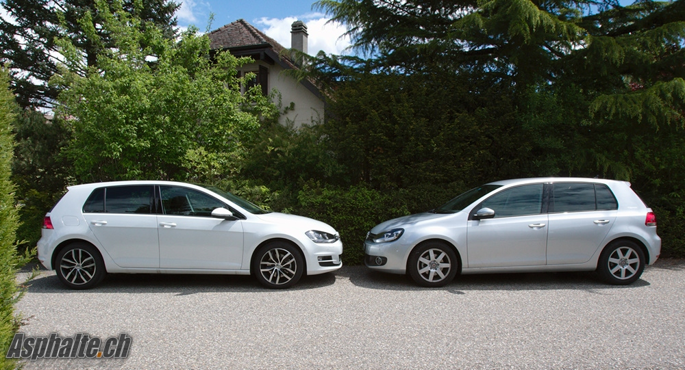 VW Golf VII TSI 140 High Line et Golf VI