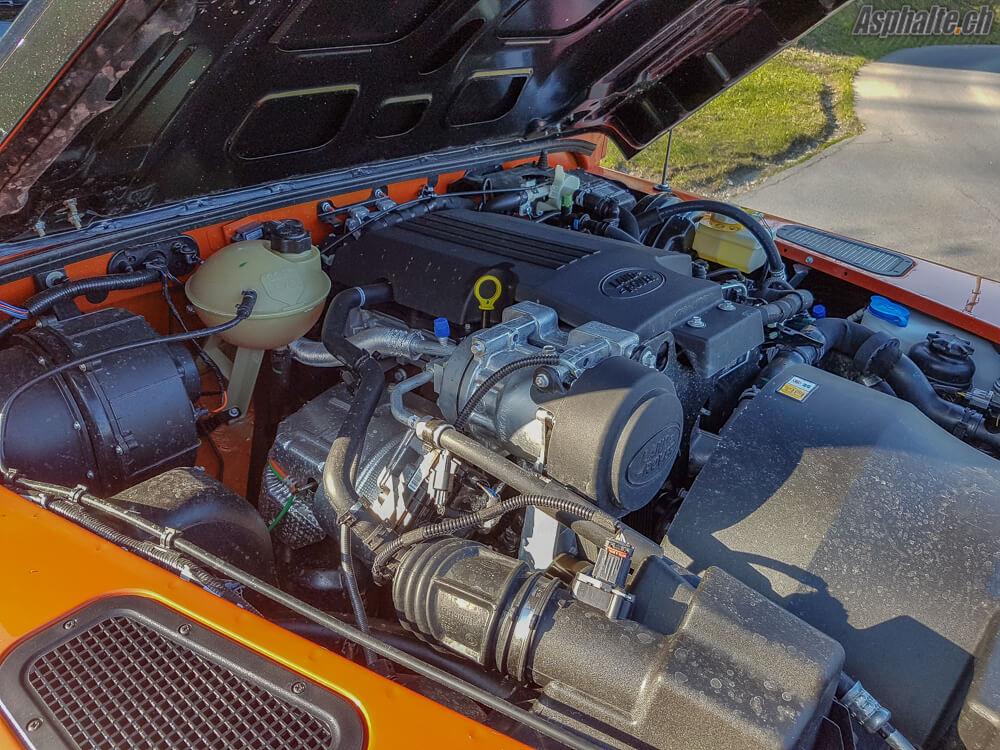 Essai Land Rover Defender 90: moteur