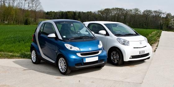 Essai comparatif Toyota iQ Smart ForTwo