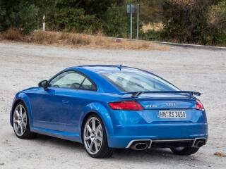 Essai Audi TT RS bleu ara