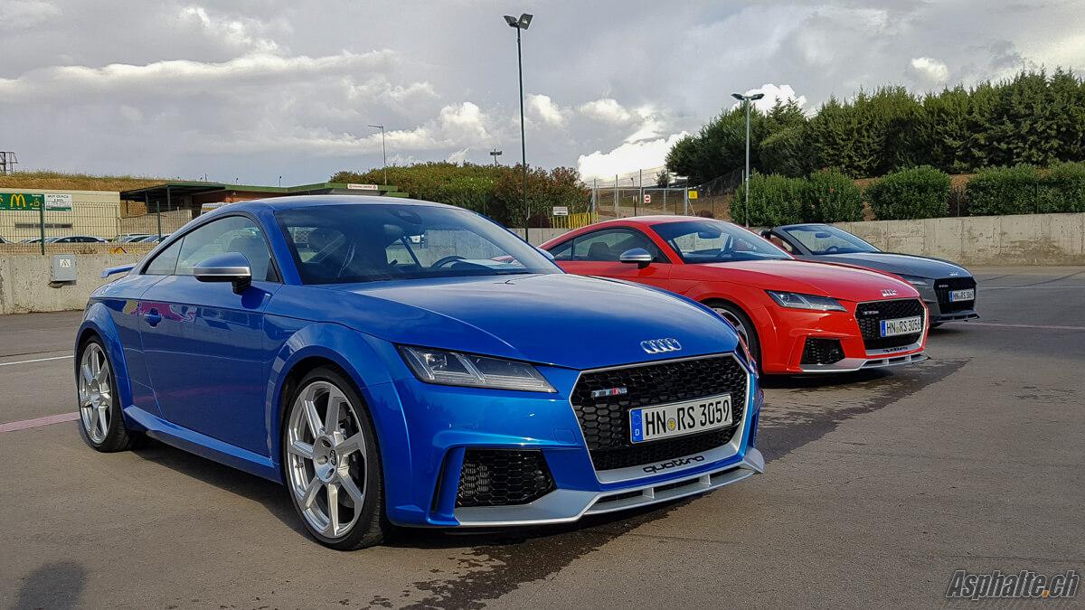 Essai Audi TT RS Ara Blau