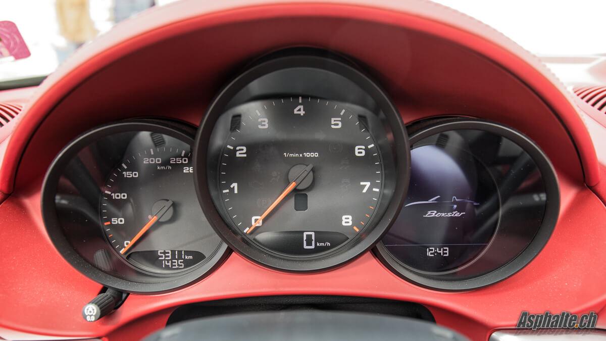 Test Porsche 718 Boxster compteurs