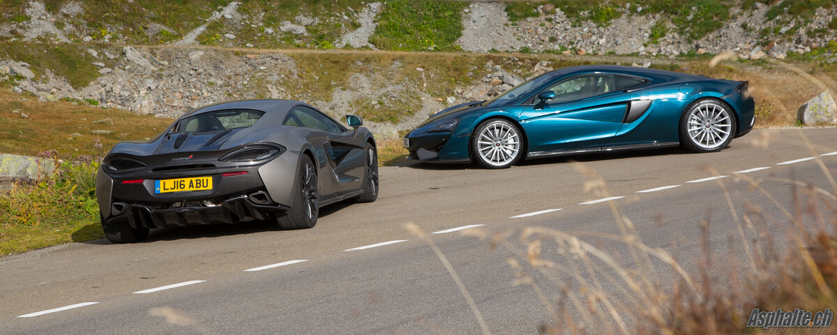 Test comparatif McLaren Sports Series 570S & 570GT