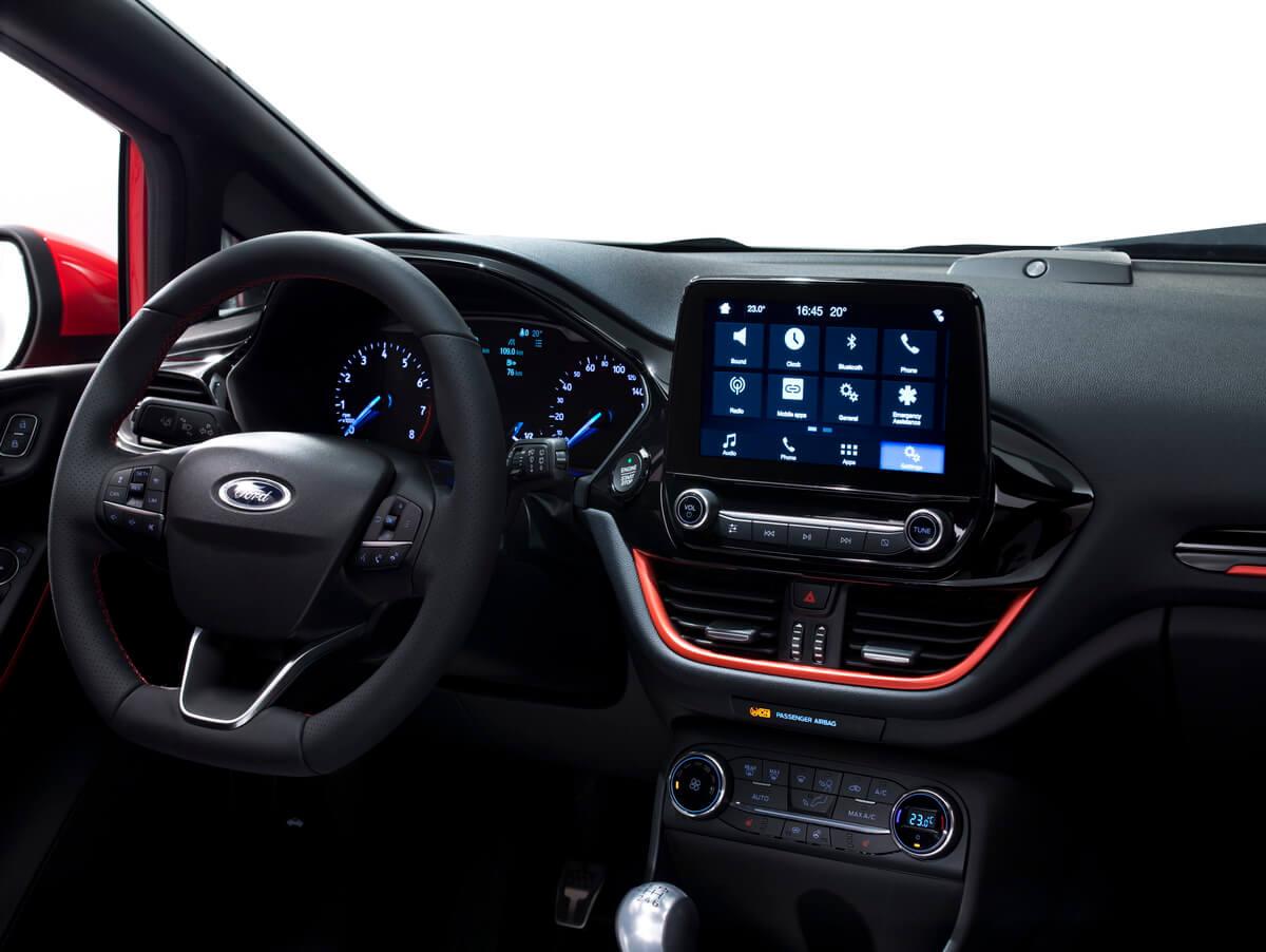 Ford Fiesta 2017 ST Line tableau de bord