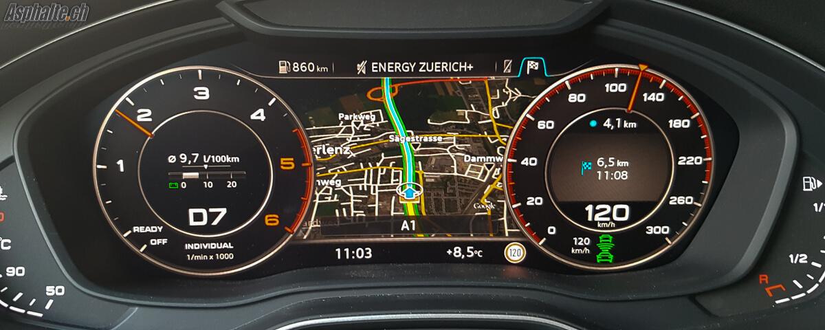 Essai Audi Q5 2016 TDI 190 Quattro Virtual Cockpit