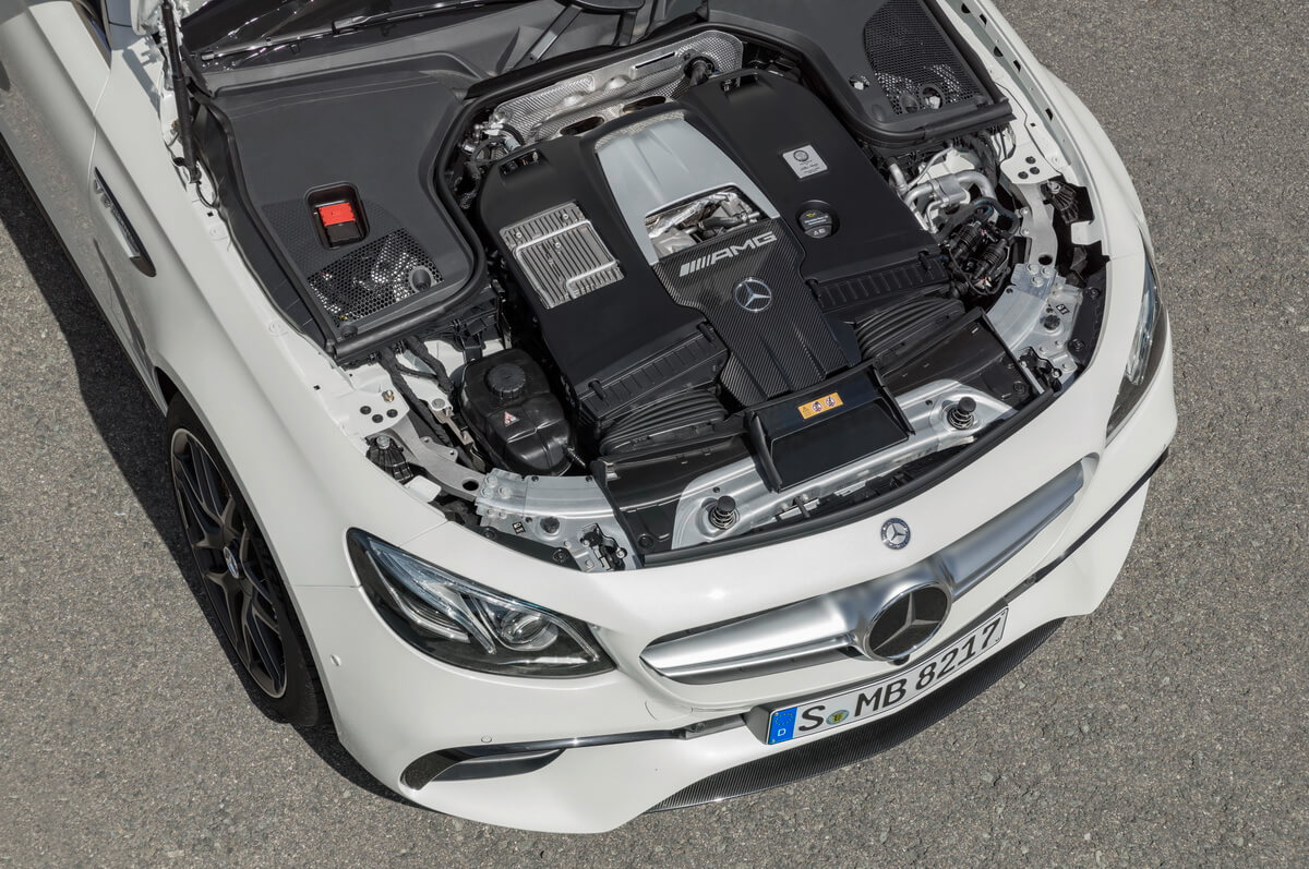 Mercedes E63 AMG 4Matic+ moteur