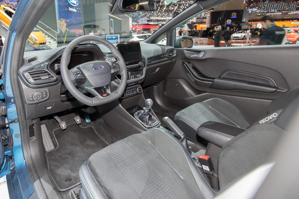 Salon de Genève Ford Fiesta ST 2018 intérieur
