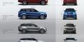 Gamme Range Rover Sport Evoque Velar