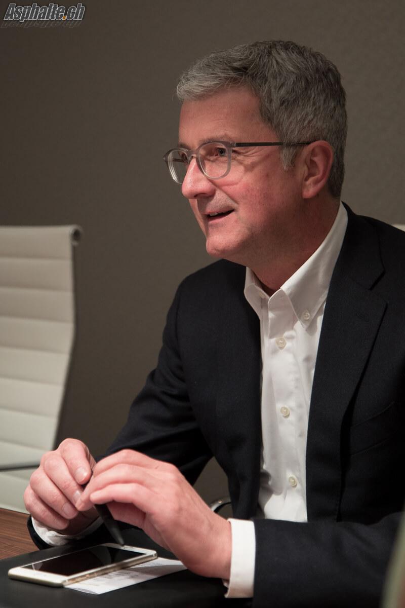 Interview Rupert Stadler Audi Genève 2017