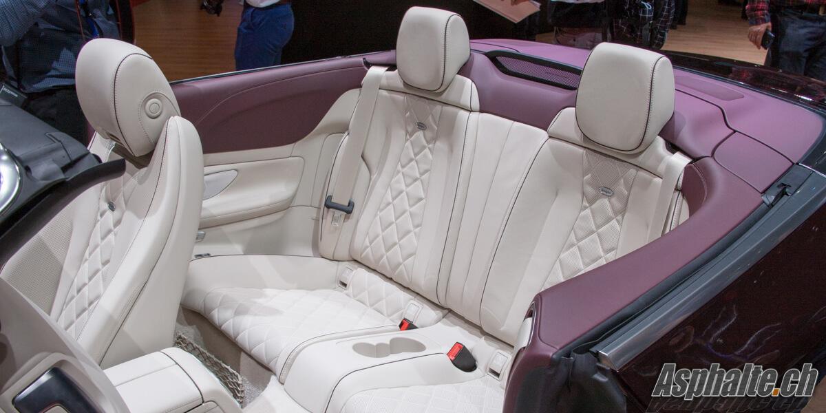 Mercedes Classe E Cabriolet intérieur blanc Genève 2017