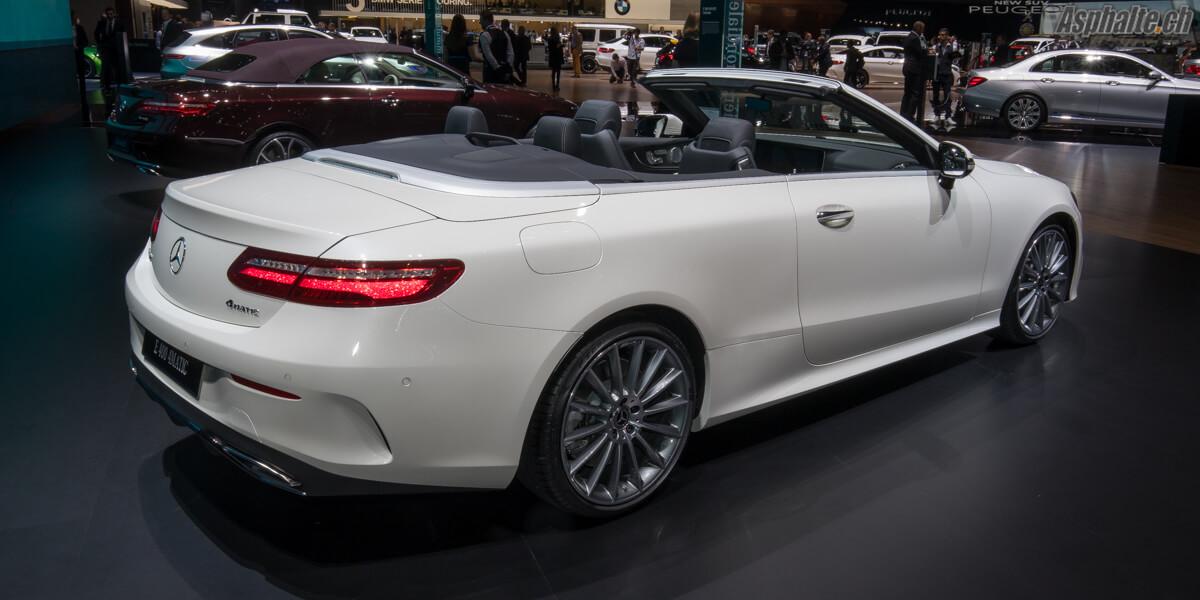 Mercedes Classe E Cabriolet 4Matic Genève 2017