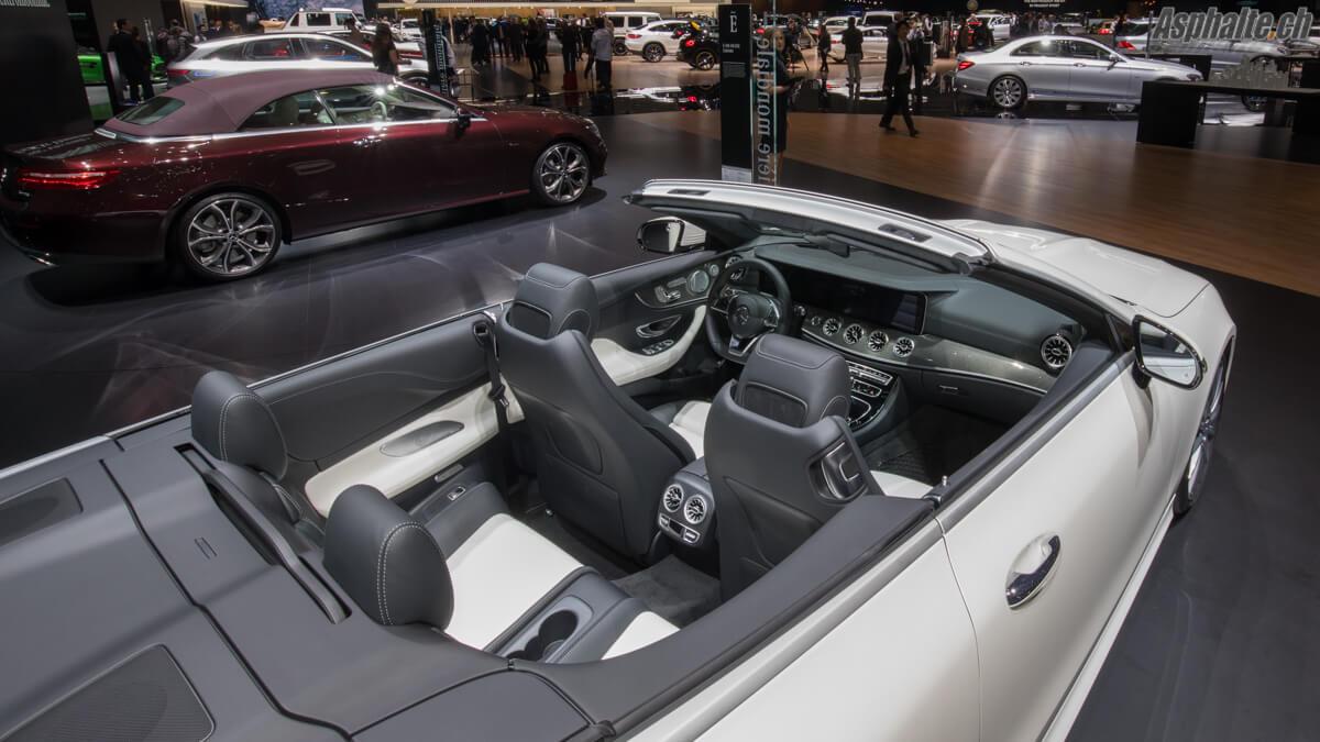Mercedes Classe E cabriolet Salon de Genève 2017