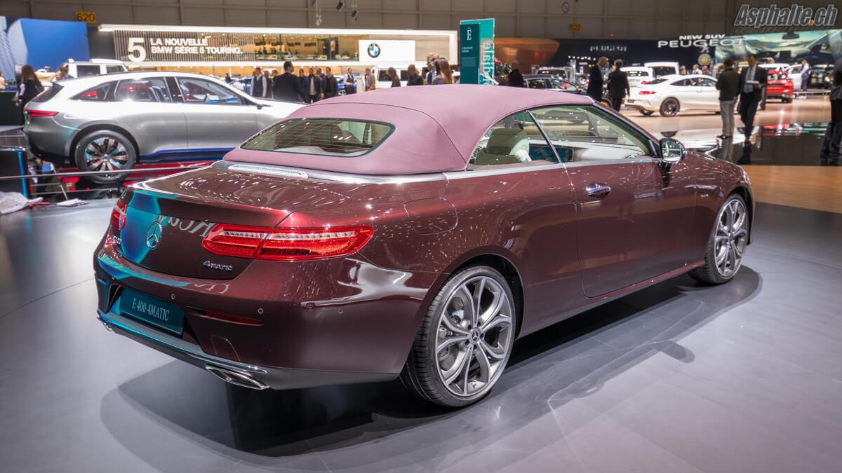Mercedes Classe E Cabriolet capotée