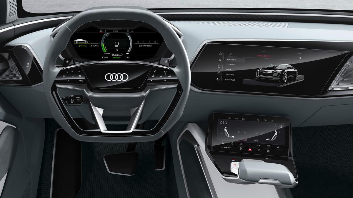 Audi e-tron Sportback Concept intérieur tableau de bord