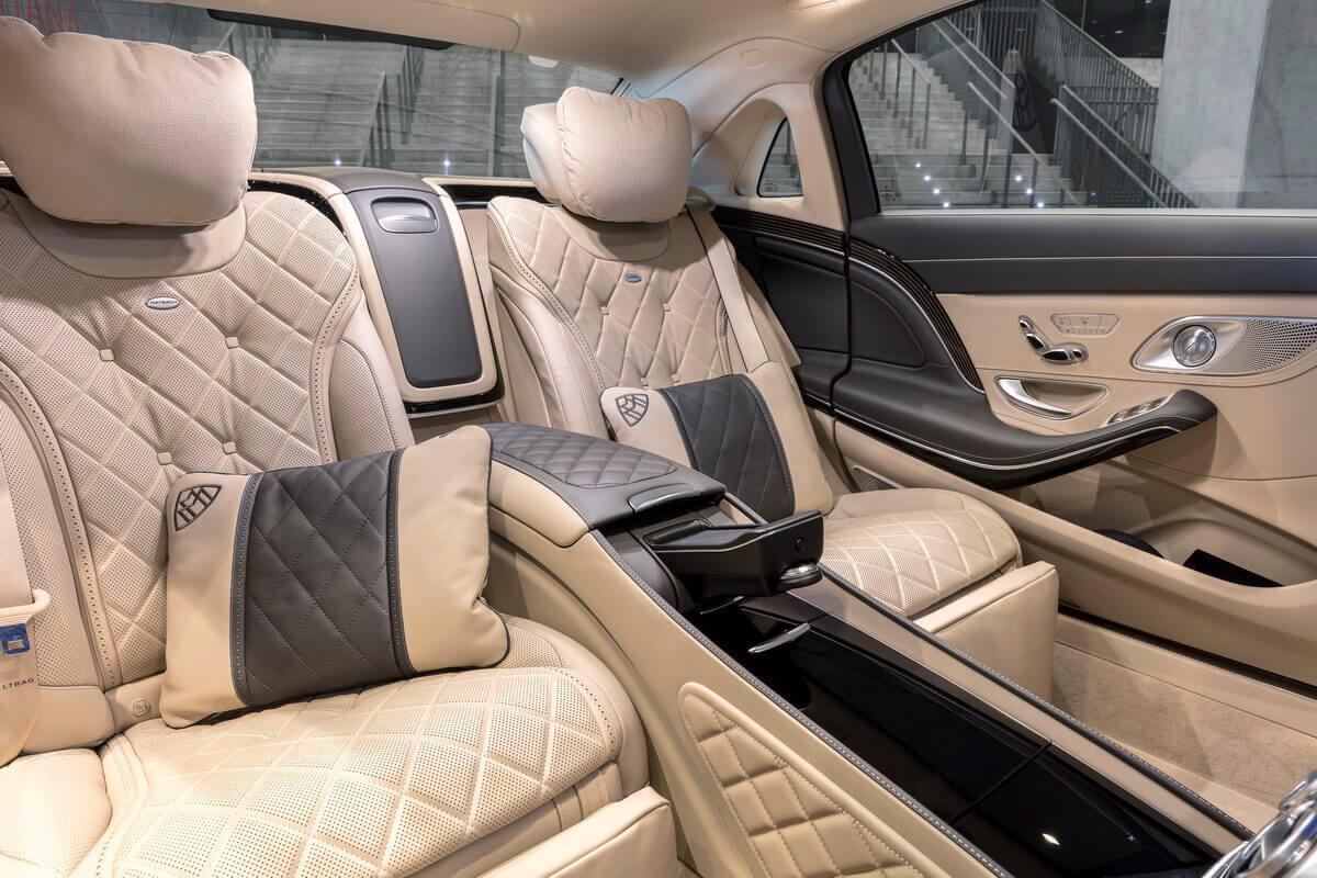 Mercedes Maybach X222 Facelift intérieur sièges arrière