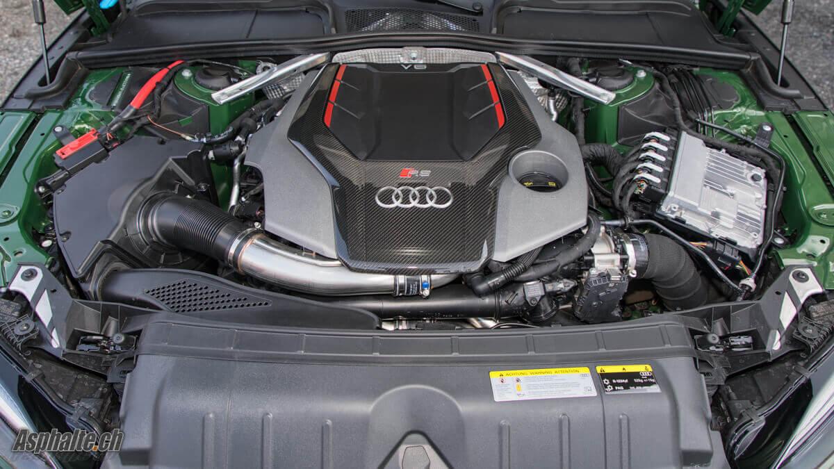 Essai Audi RS9 Coupé biturbo moteur