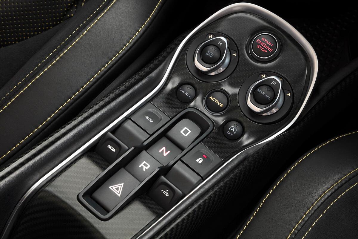 McLaren 570S Spider console centrale