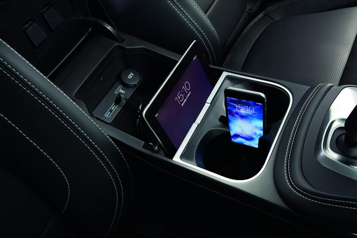Jaguar E-Pace console centrale