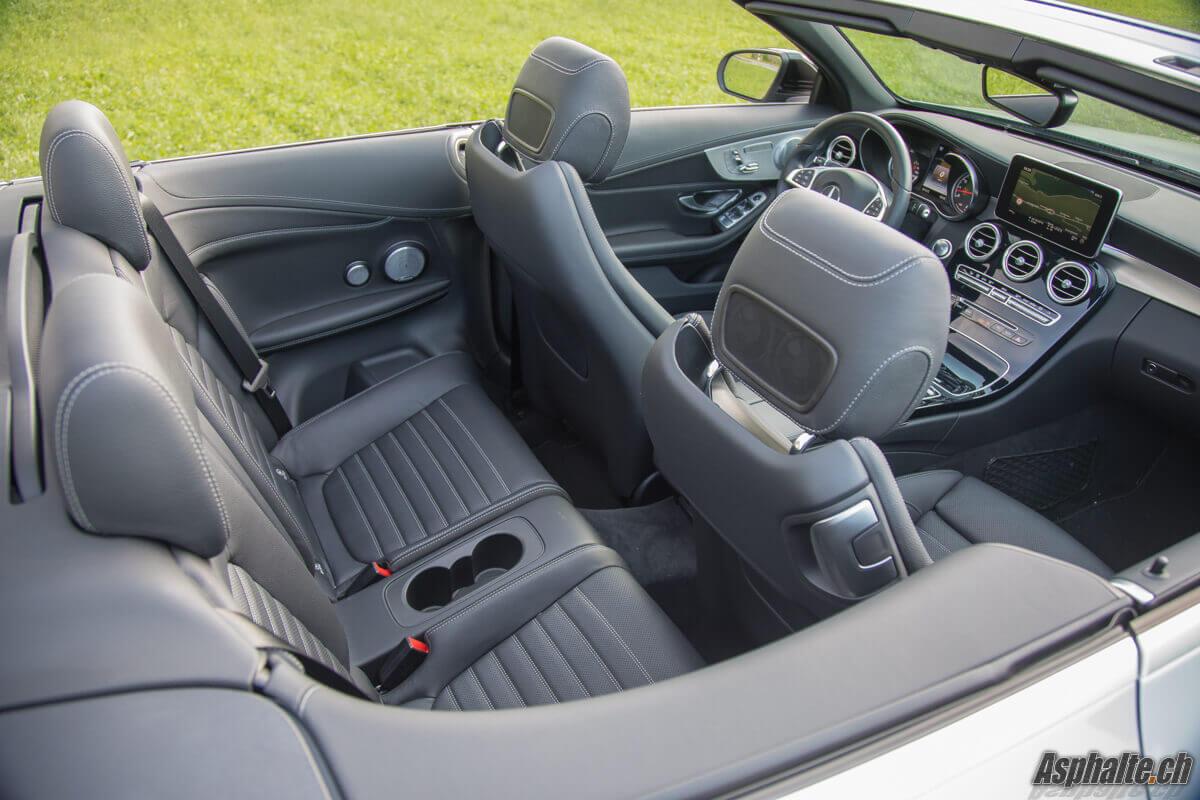 Essai Mercedes C43 AMG intérieur sièges arrière