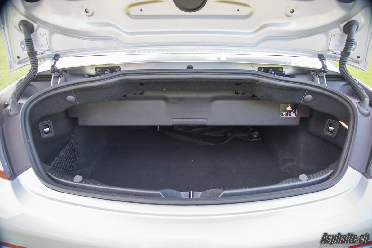 Essai Mercedes AMG C43 Cabriolet coffre