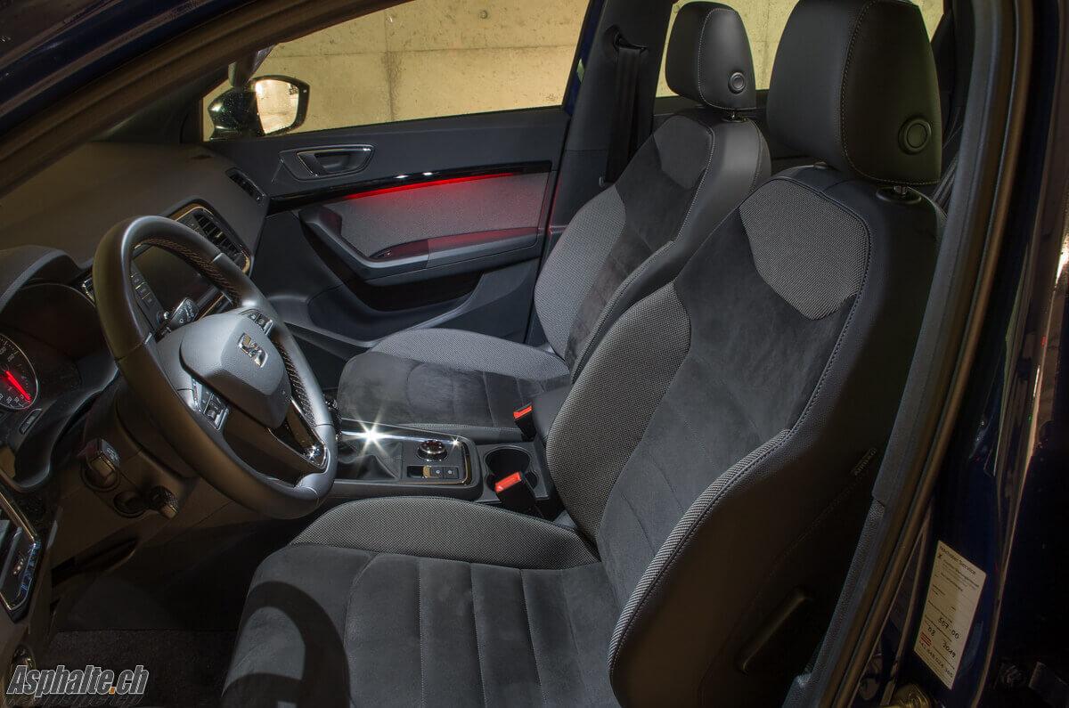 Essai Seat Ateca intérieur velours