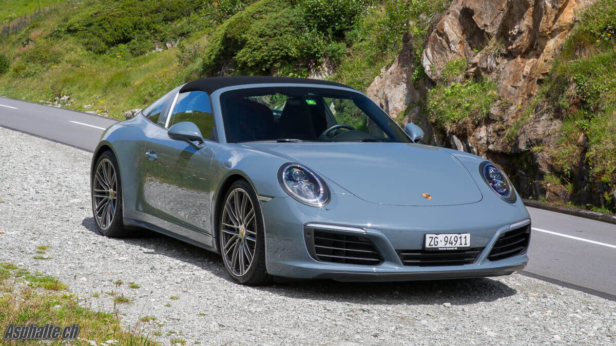 Essai Porsche 911 Targa 4S Bleu Graphite