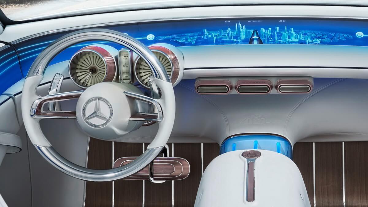 Vision Mercedes-Maybach 6 Cabriolet tableau de bord intérieur