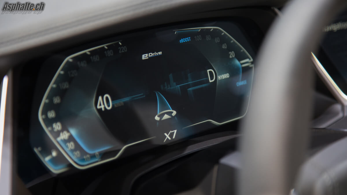 BMW X7 Concept compteurs instruments