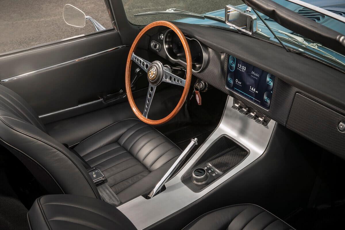 Jaguar E-Type Zero Electrique intérieur