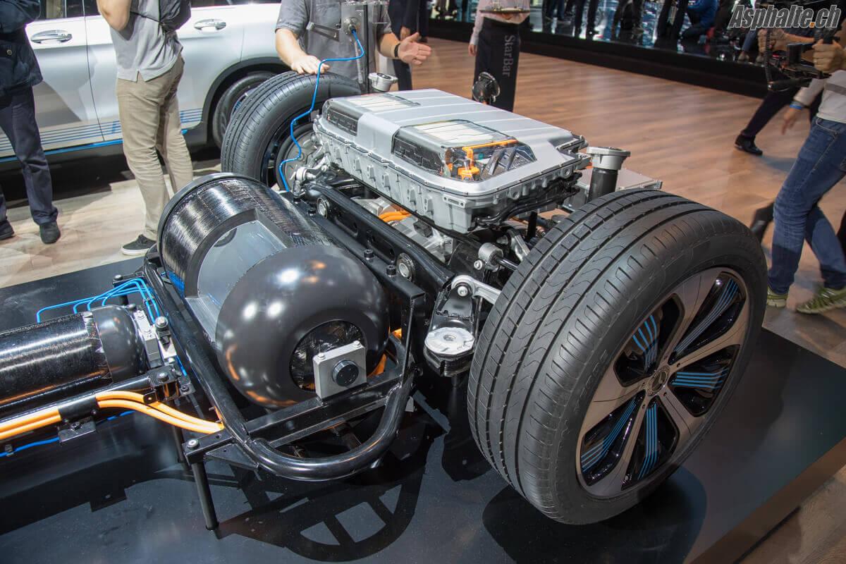 Mercedes GLC F-Cell batterie réservoir hydrogène H2