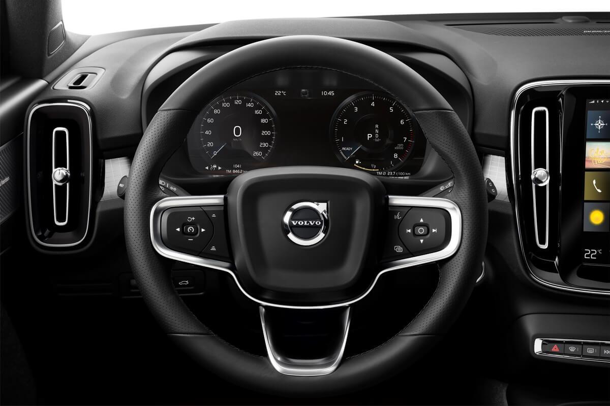Volvo XC40 intérieur compteurs volant