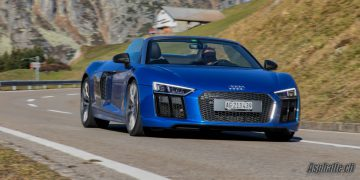 Essai Audi R8 Spyder V10