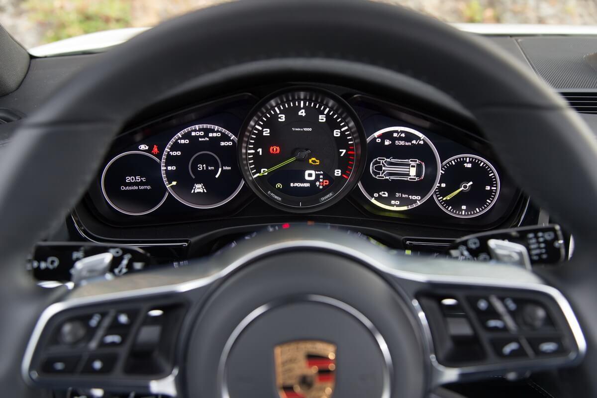 Essai Porsche Panamera Sport Turismo compteurs