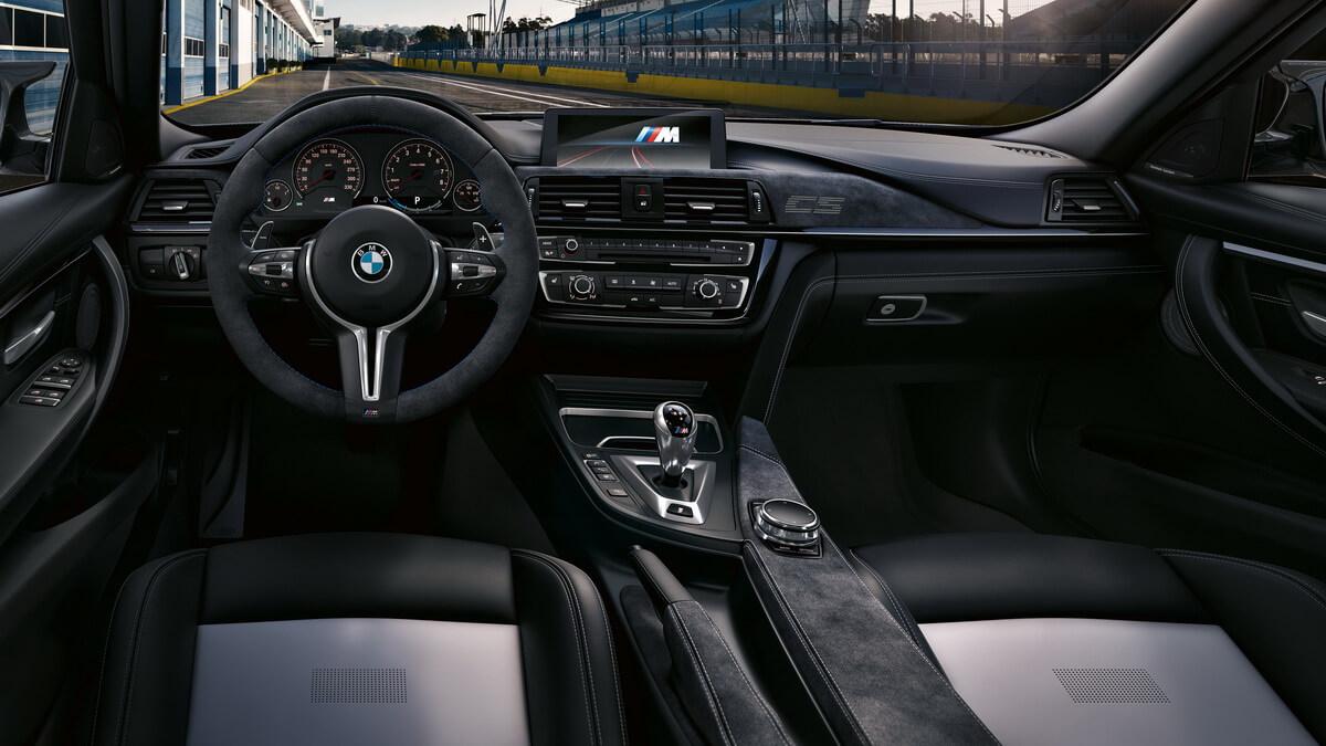 BMW M3 CS intérieur alcantara