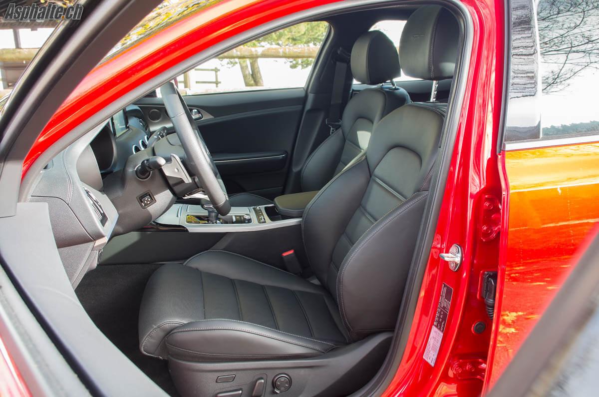 Essai Kia Stinger GT intérieur sièges