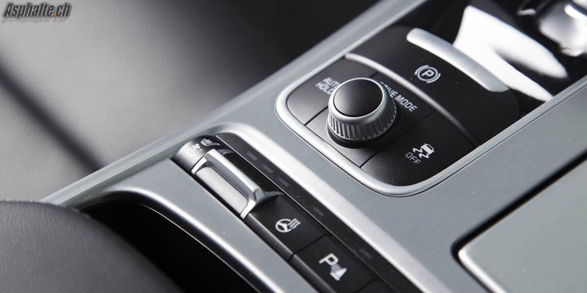 Essai Kia Stinger GT intérieur sélecteur modes