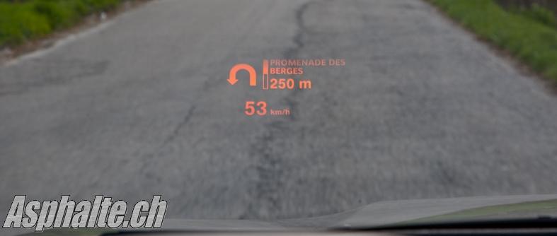 Essai BMW X6 xDrive35i E71 Head Up Display