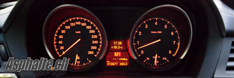 Essai BMW Z4 sDrive35i compteurs