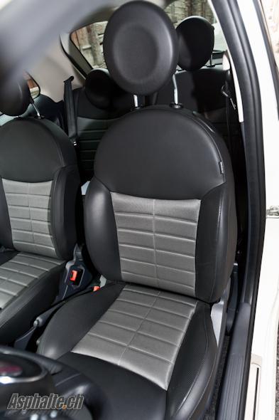Essai Fiat 500 Twinair intérieur