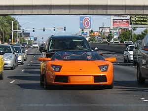 Las Vegas Strip Lamborghini Murcielago Spyder Orange