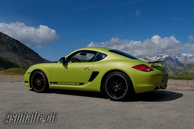 Essai Porsche Cayman R Vert Péridot