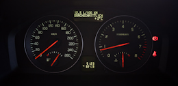 Essai Volvo V50 Multifuel compteurs