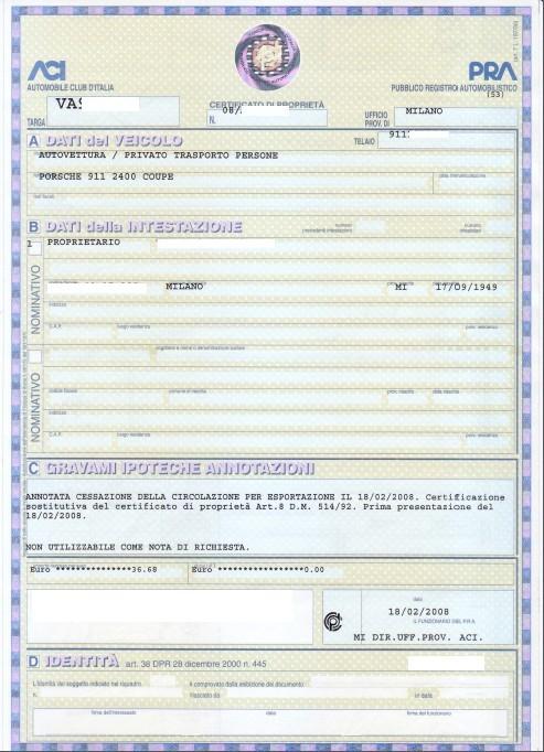 Import véhicule italien File