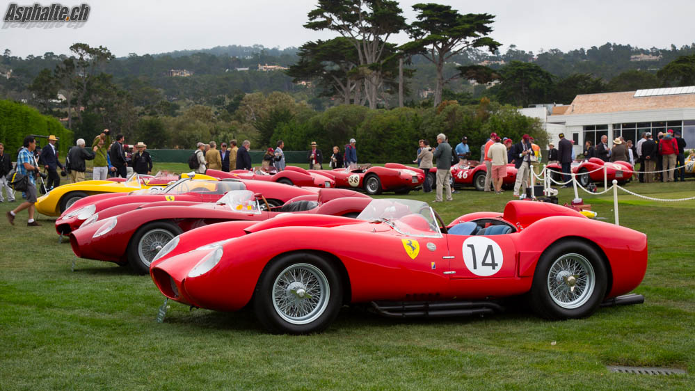 Pebble Beach 2014 20 Ferrari 250 Tr On The Fairway