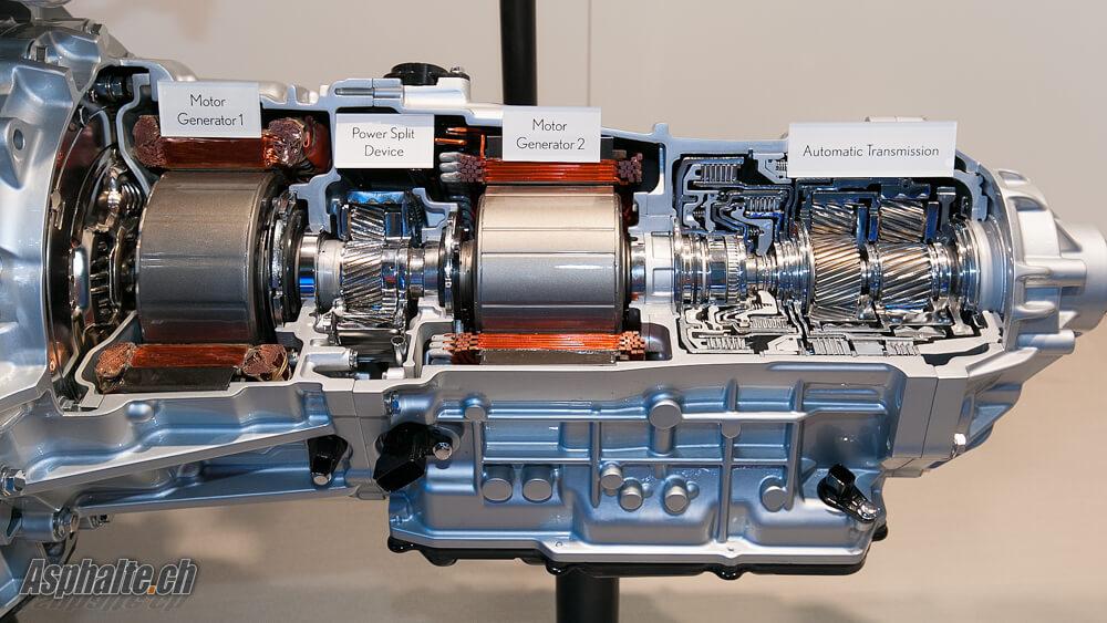 Lexus LC500h: transmission