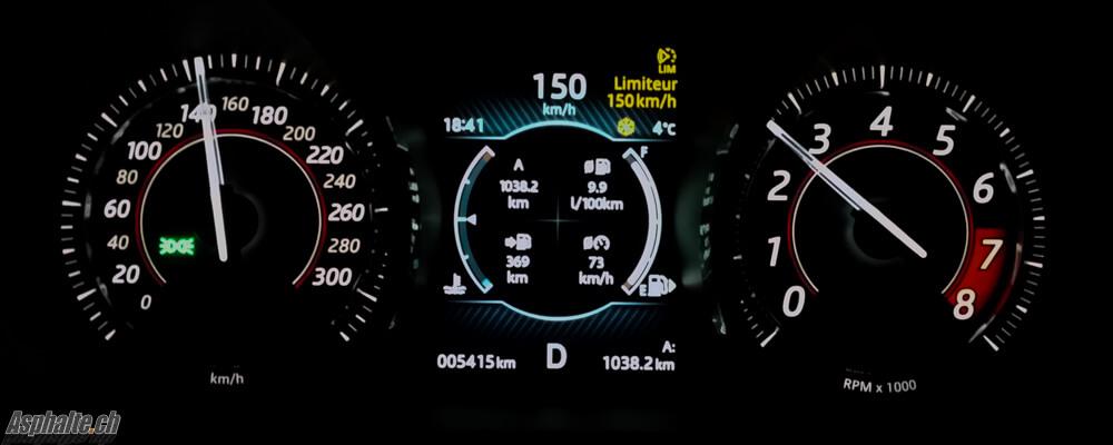 Essai Jaguar F-Type V6S AWD: compteurs